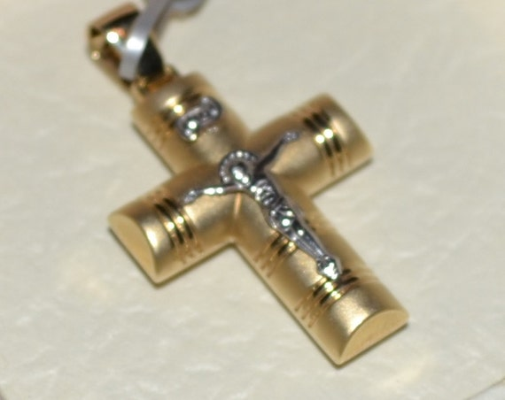 14K Gold Cross 4.1grams Made in Greece, Free Shipping Worldwide, Guaranteed Quality, 14K Orthodox Cross