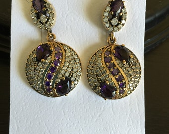 Vintage Collection - Sterling Silver Earrings with Amethyst