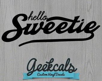 Doctor Who, Hello Sweetie, Vinyl Decal
