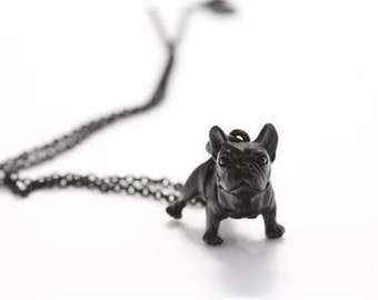 Black French Bulldog pendent