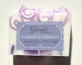LAVENDER and CHAMOMILE SOAP | Glycerin | Shea Butter | Mango Butter | Cocoa Butter | The Graceful Rabbit