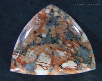 Peace River brecciated Jasper cabochon, Canada.  17.07 carats.