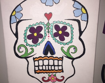 Spanish Skull Canvas Painting