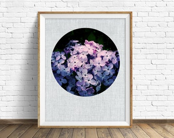 "botanical wall art, lilacs, large art, large wall art, instant download printable art, digital download, modern, contemporary, art -""Lilacs"""