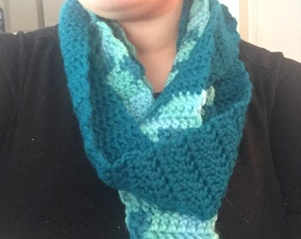 Blue Variegated Infinity Scarf
