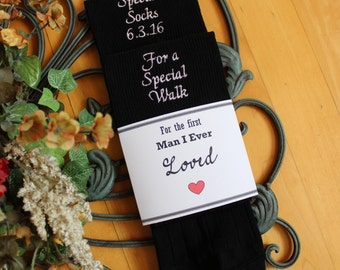 Wedding socks for Father of the Bride, Special Socks, Special Walk. The first man I ever LOVED, father of the bride socks. F23LB7