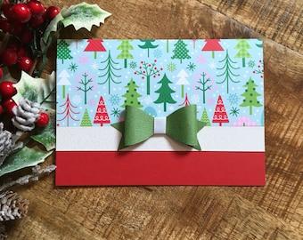 Christmas Tree Card - Whimsical Christmas Card - Handmade Christmas Card - Fun Christmas Card - Holiday Card - XMAS Card - Christmas Card