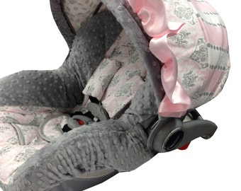 Gray Marcy Infant Car Seat Cover