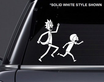 Rick and Morty Inspired Vinyl Decal
