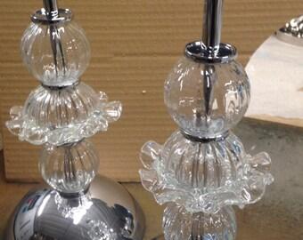 table lamp white murano glass with murrisa typical venezian handmade