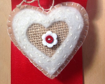 Handmade small heart with potpourri