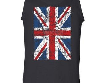 Union Jack Tank Top UK United Kingdom Distressed British Flag Muscle Shirt 100493-TT