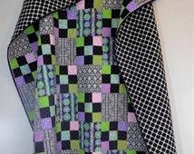 Twin Quilt/Twin Size Quilt, Full Size Quilt /Girl Quilt /Modern Quilt /Handmade Quilt/Patchwork Quilt/Shabby Chic Quilt/Garden Quilt