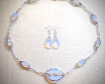 Mermaid's tears wire-wrapped set