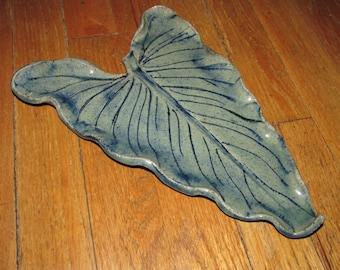Handmade Blue/Green or Turquoise/Beige Ceramic Calla Lilies