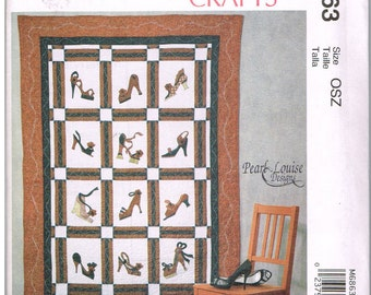 McCall's M6863, Sewing Pattern, McCall's Crafts, Quilt by Pearl Louise Designs, OSZ