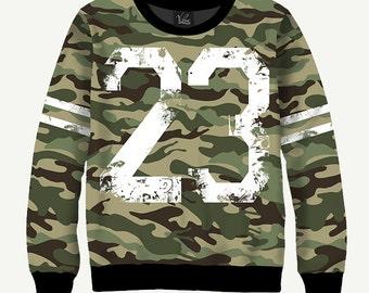 Camouflage 23 - Men's Women's Sweatshirt | Sweater - XS, S, M, L, XL, 2XL, 3XL, 4XL, 5XL