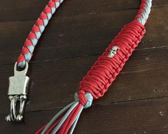 Biker Get Back Whip - Red & Gray
