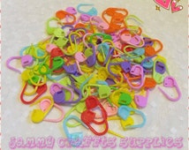 Locking Stitch Markers for Knitting/Crochet/Snag free/Stitch Markers/Plastic Stitch Markers/Crochet Tools/Knitting Tools/CANDY CRUNCH