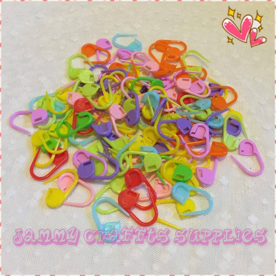 Knitting Locking Stitch Markers : Locking Stitch Markers for Knitting/Crochet/Snag free/Stitch