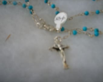 turquoise and sterling Rosary