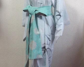 Summer Kimono/bamboo/ robe/ Japan/ traditional/ dress/ vintage/ antique