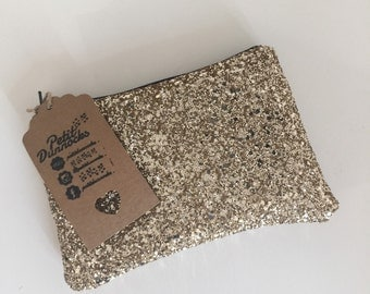 Gold glitter clutch, party bag, Gold clutch bag, evening clutch bag, wedding clutch bag, prom clutch bag, gold evening bag