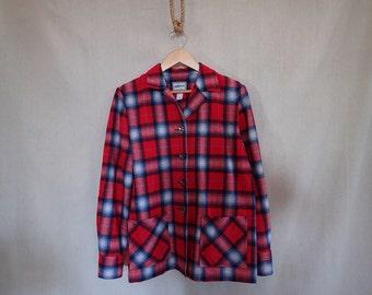 SALE! Pendleton Plaid Shirt Jacket