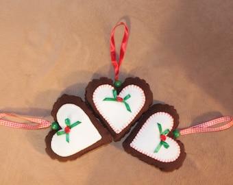 Set of Stuffed Hearts