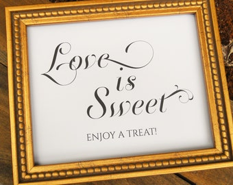 Wedding Sign, LOVE is SWEET SIGN, Wedding Signs, Candy Bar Sign, Reception Decor, Wedding Signage, Wedding Decorations, Wedding Decor