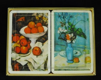 Piatnik Vienna Austria Collectible Art Playing Cards Poker Still Life Fruit Flowers Two Decks Poker Cards Paper Crafting