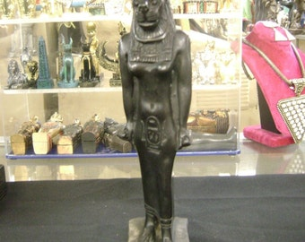 Large Unique Egyptian Goddess Sekhmet Statue Made in Egypt