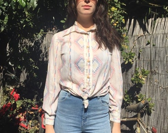 Southwestern button up