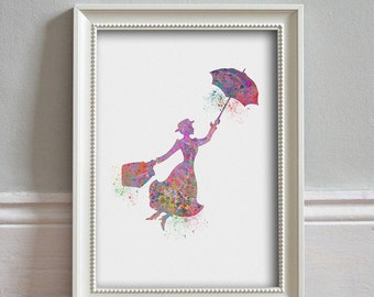 Mary Poppins Art Disney Gift Mary Poppins Print Home Decor Wall Decor Mary Poppins Poster Mary Poppin Party Julie Andrews - PRINT