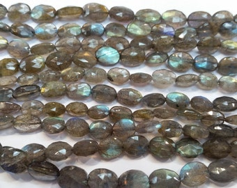 """2 strands, Labradorite faceted Oval Shape 6x8mm to 7x9 MM length is 8"""""""