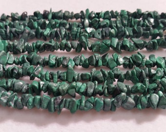 Malachite Chips , Length 35""