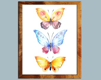 20% OFF Butterfly, watercolor butterfly, butterfly print, butterfly art, watercolor print, watercolor, butterfly painting,print,butterflies
