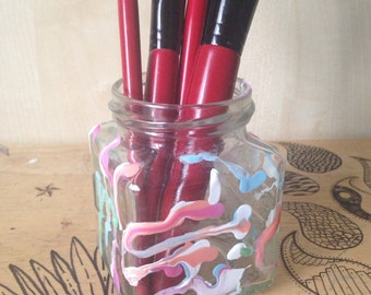 Glass jar holder
