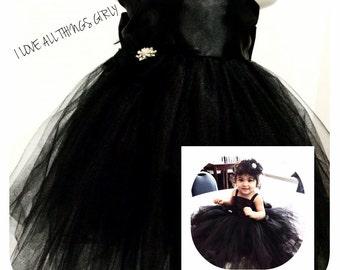 Black tux tie tutu dress