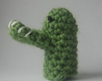 crochet puppet finger  small marionette crocodile  toys 6 cm 2,4 inch  nutka_art handmade