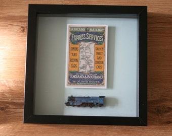 Framed Steam train model