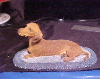 Sherrat and Simpson Distr. by willitts Design Dacshund figurine