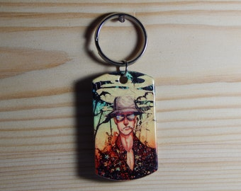 "A ""Sparrow on vacation"" Keychain handmade souvenir"