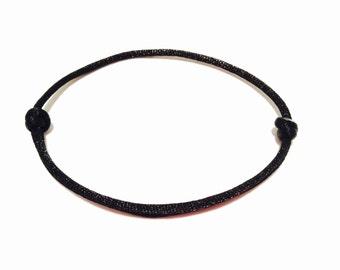 Black String Bracelet - Minimalistic Bracelet - Womens Bracelet - Mens Bracelet - Simple Bracelet - Single String Bracelet - String Bracelet