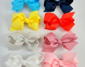 Beautiful Grosgrain Hair Clips, Children Hair Clips, You Pick the Colors