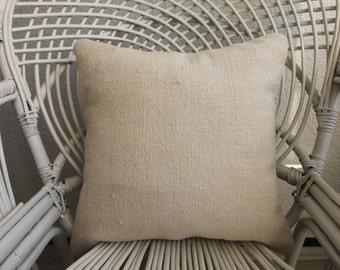 vintage kilim pillow White Colour Pillow 16x16 pillow cover Decorative Kilim Pillow Turkish Kilim Pillow Cushion 1082