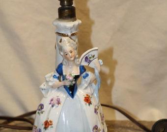 Vintage Dresden porcelain lamp