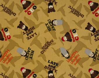 Duck Dynasty Faces Saying Toss Tan/Multi Fabric, Quilt or Craft Cotton