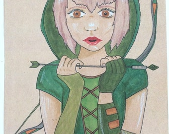 Green Arrow Illustration