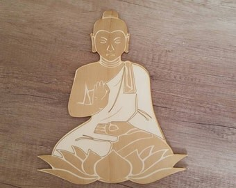 Buddha, laser cut wood, buddah
